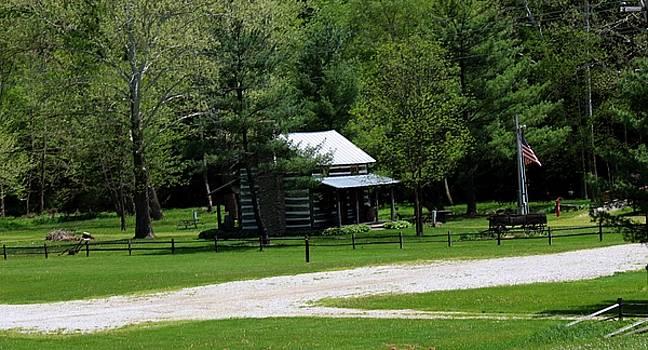 Log Cabin In Loudonville by R A W M