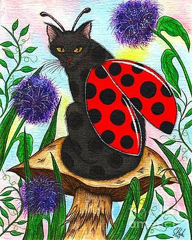 Logan Ladybug Fairy Cat by Carrie Hawks