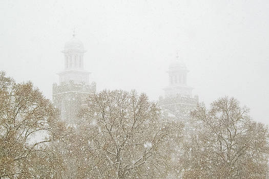 Logan Temple in Snow by Greg Collins
