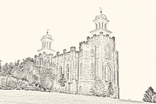 Logan Temple Sketch by Misty Alger