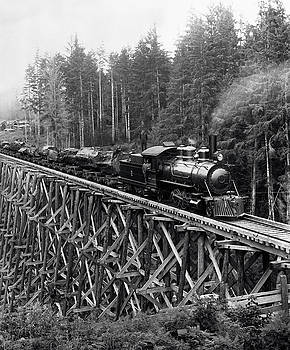 Daniel Hagerman - LOGGING TRAIN and TRESTLE c. 1885
