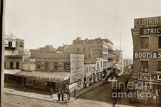 California Views Mr Pat Hathaway Archives - Lombard Loan Office 622 Kearny Street. Empire House Lodgings circa 1888