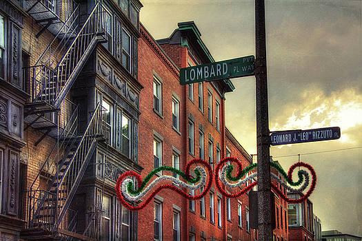 Lombard Pl - Boston North End  by Joann Vitali