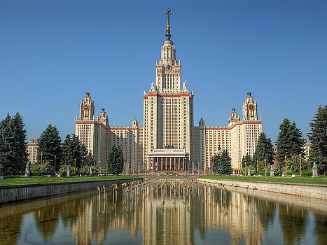 Lomonosov Moscow state university at day by Alexey Kljatov