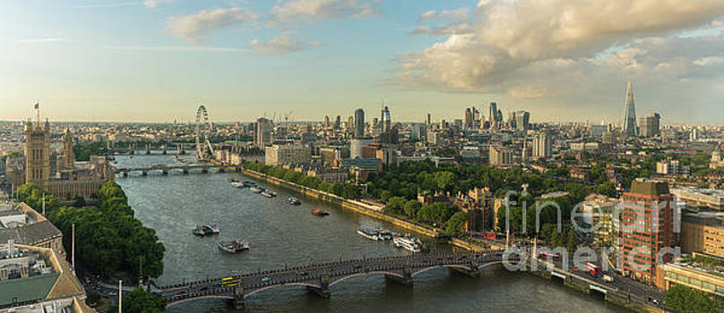 London Along the Thames Panorama by Mike Reid
