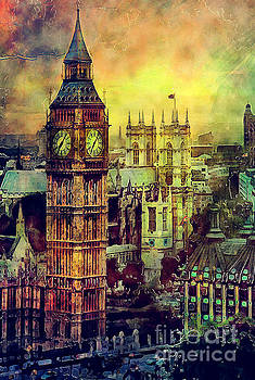 Justyna Jaszke JBJart - London Big Ben watercolor