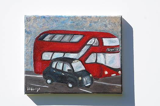 London bus.  by Valeriya Bugatti