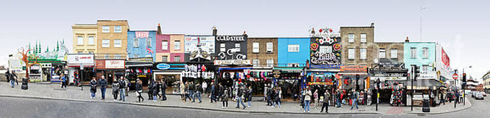 London Camden Town and Market Panorama by Joerg Dietrich