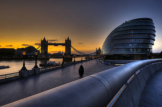 London City Hall Sunrise by Donald Davis