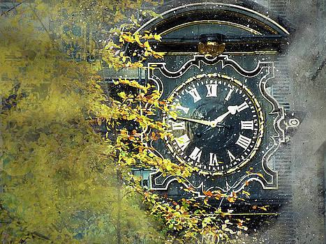London Clock by Judi Saunders