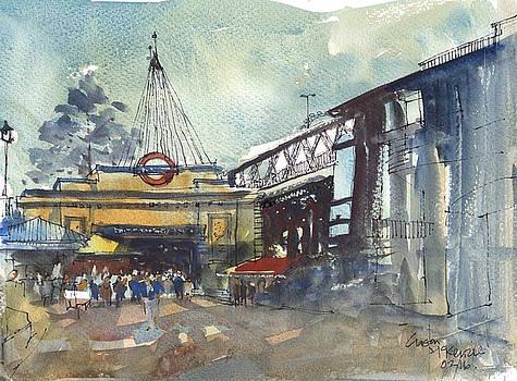 London Embankment by Gaston McKenzie