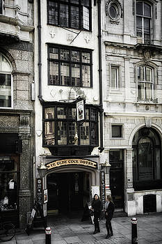 London England- Ye Olde Cock Tavern by Russell Mancuso