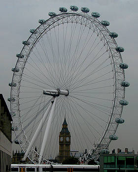London Eye and Big Ben, London by Misentropy