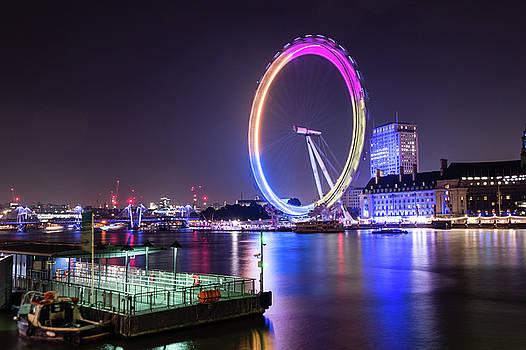 Jacek Wojnarowski - London Eye by night