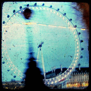London Eye Through the Taxi Window by Sonia Stewart