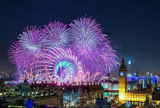 Stewart Marsden - London New Year Fireworks Display