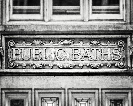 London Photography Public Baths Black and White  by Lisa Russo