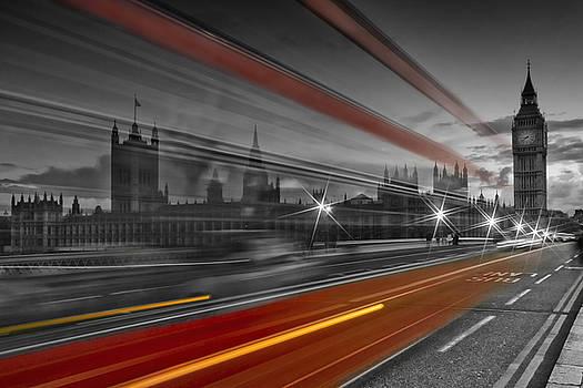 LONDON Red Bus by Melanie Viola