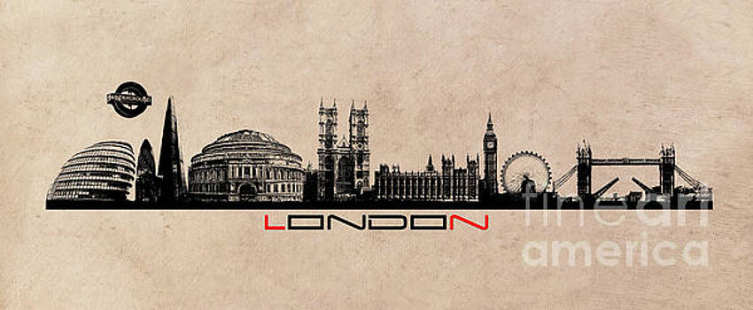 Justyna Jaszke JBJart - London skyline city long black