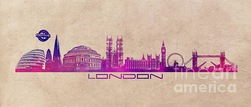 Justyna Jaszke JBJart - London skyline city long