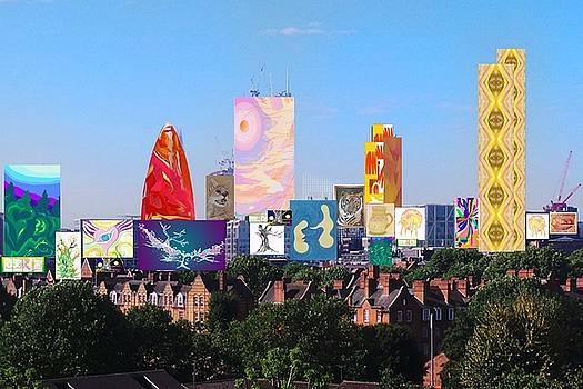 London Skyline Collage 1 by Julia Woodman