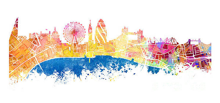 Justyna Jaszke JBJart - London skyline map city Tamiza
