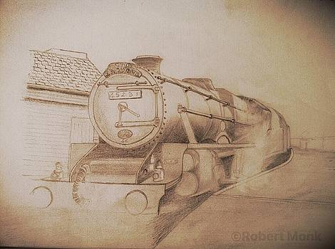 London Steam Locomotive  by Robert Monk