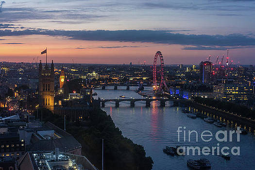 London Thames Almost Night by Mike Reid