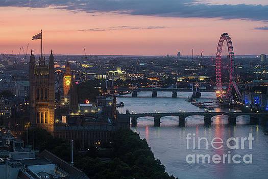 London Thames Sunset Light by Mike Reid
