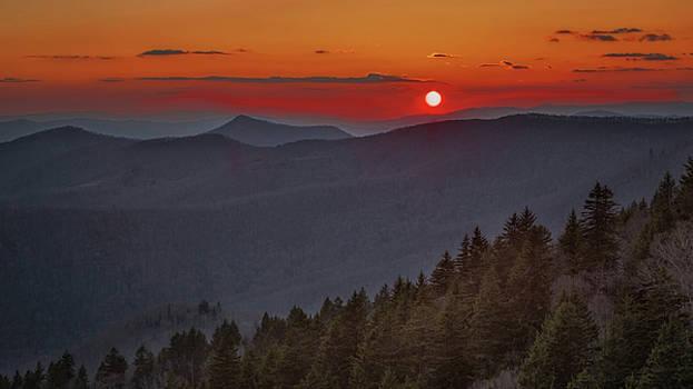 Lone Bald Sunset by Johnny Crisp