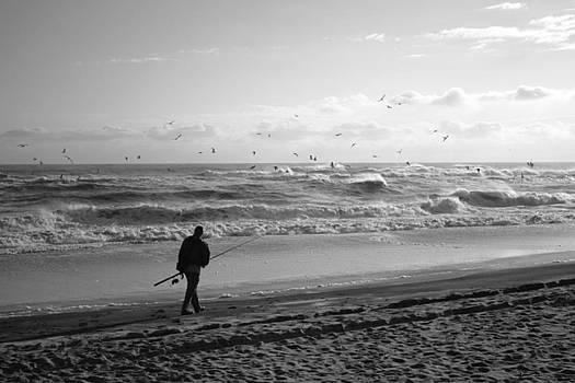 Lone Fisherman by Linda C Johnson