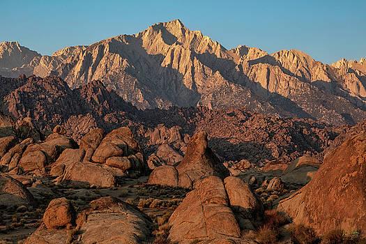 Lone Pine Peak At Sunrise by Stuart Gordon