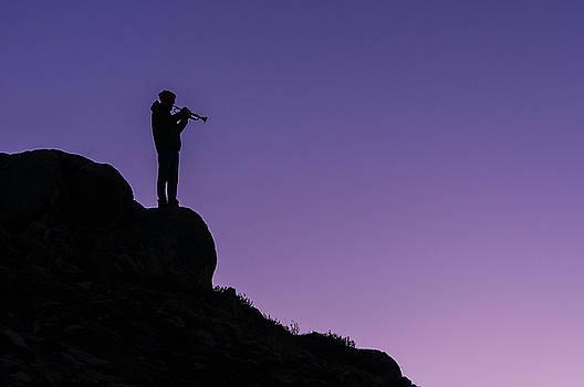 Paul Conrad - Lone Trumpeter at Sunset