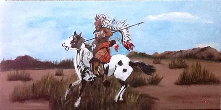 Lone warrior by Catherine Swerediuk