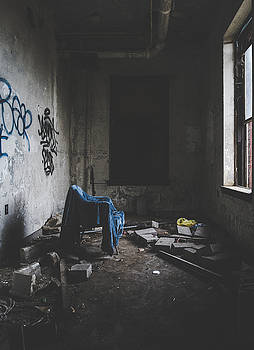 Lonely Chair in Abandoned Building Interior by Dylan Murphy