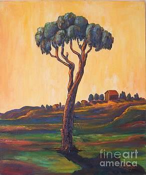 Lonely Eucalyptus by Ushangi Kumelashvili