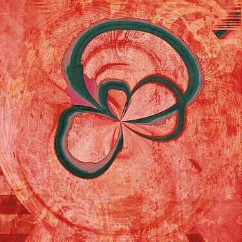 Lonely Flower on Red by Susan Leggett