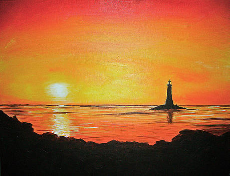 Lonely Lighthouse by Ashley Warbritton