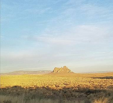Lonely Mountain in New Mexico by Mozelle Beigel Martin