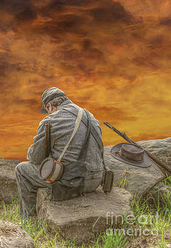 Lonely Picket Sunset by Randy Steele