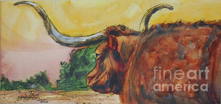 Lonesome Longhorn by Ron Stephens