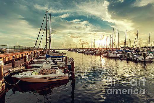Long Beach Harbor by Joan McCool
