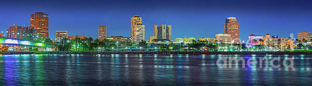 David Zanzinger - Long Beach Skyline Cityscape Panorama