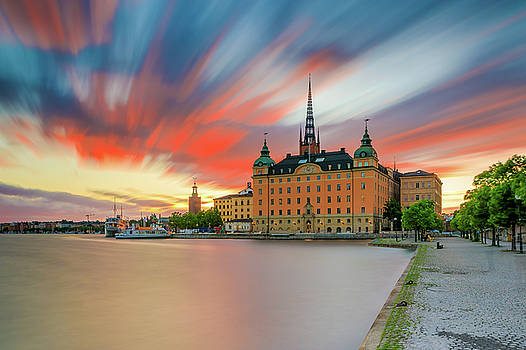 Long exposure Stockholm sunset by Dejan Kostic