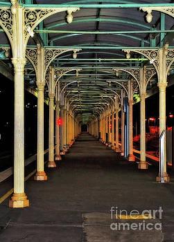 Long Platform Albury Station by Kaye Menner by Kaye Menner