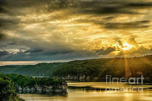 Long Point Summersville Lake Sunrise by Thomas R Fletcher