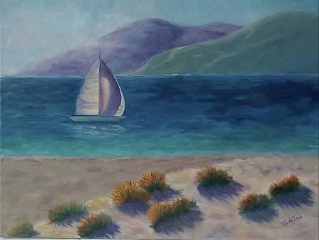 Long Shadows at Ventura Dunes by Candace Doub