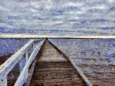 Long walk into the water by Ashish Agarwal