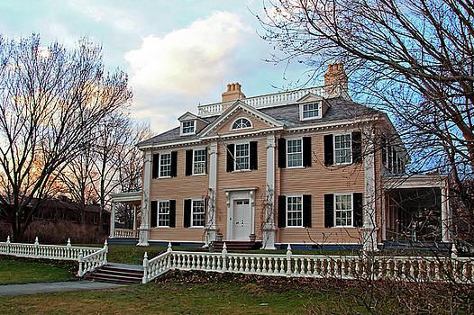Longfellow House at Sunset by Wayne Marshall Chase