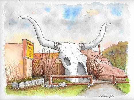 Longhorn Grill and Restaurant, Amado, Arizona by Carlos G Groppa